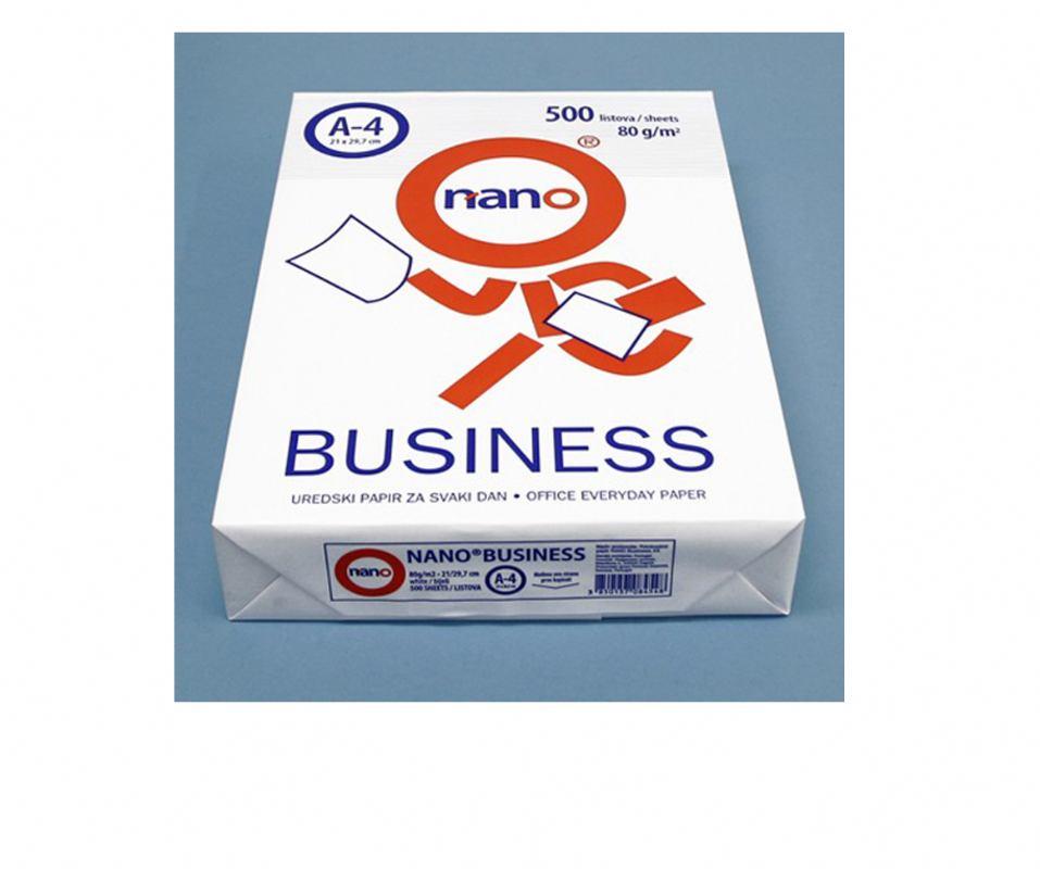 Papir FOTOKOPIRNI Nano BUSSINESS A4- 80g (1/500)