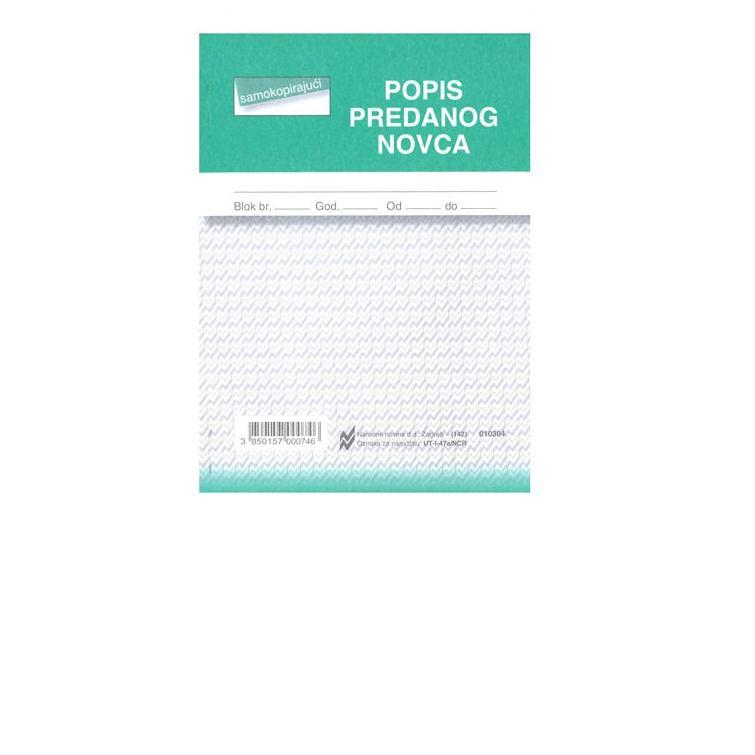 Popis predanog novca-NCR