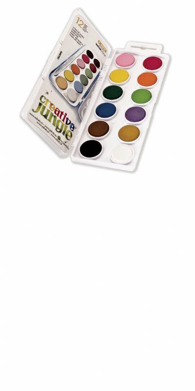 Vodene boje CREATIVE JUNGLE 12 (ø21mm)