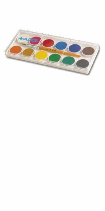 Vodene boje 12 s kistom (ø24mm)